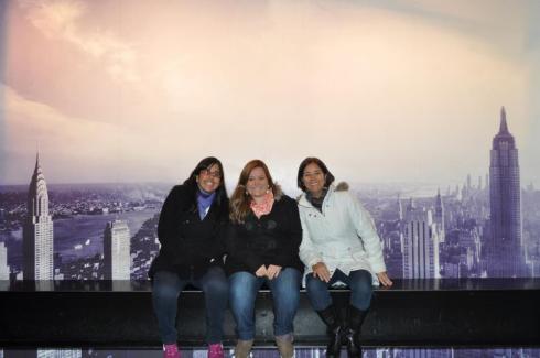 Rockefeller Center com a minha amiga e minha mãe